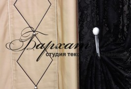 Вышивка на шторах