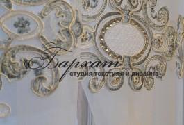 Вышивка на французской сетке