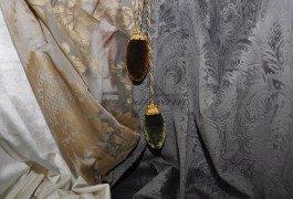 Матовый бархат и тюль с металлическим блеском - современная классика для вашего интерьера