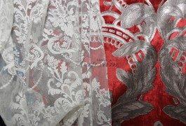 Тончайшее французское кружево с классическим рисунком из новой коллекции Versace просто незаменимо в классическом интерьере.